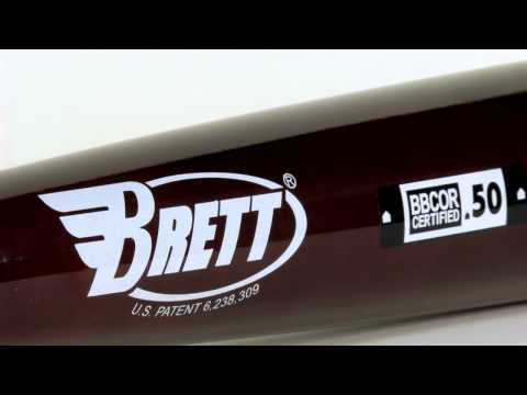 Brett Bros. Maple/Bamboo Wood Bat: MB110 Adult With FREE Energy Towel