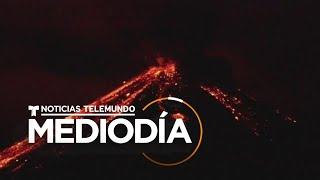 La erupción de un volcán en Ecuador pintó de rojo la noche   Noticias Telemundo