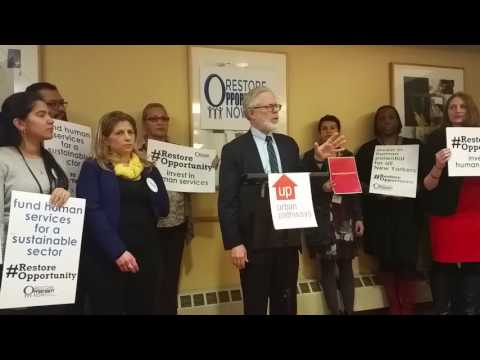 NYS Assemblymember Richard Gottfried - Restore Opportunity Now Press Conference 2-2-17
