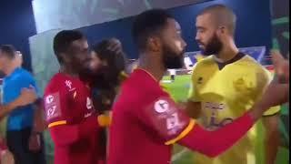 شاهد .. لقطة حسين عبدالغني مع شايع شراحيلي قبل المباراة