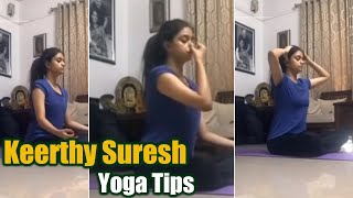 Keerthy Suresh Yoga Workout International Yoga Day - Telugu Film News | Latest Tollywood News | TFPC - TFPC