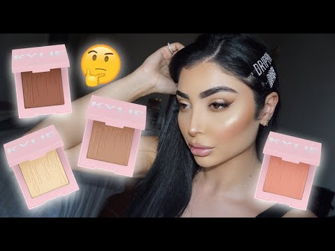 KYLIE COSMETICS Bronzers, Blushes, Highlighters REVIEW + TUTORIAL! I Nina Vee