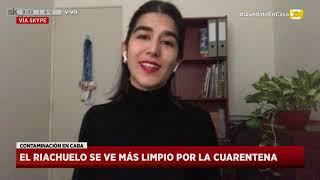 Contaminación en CABA: El Riachuelo se ve más limpio por la cuarentena en Hoy Nos Toca a las Ocho