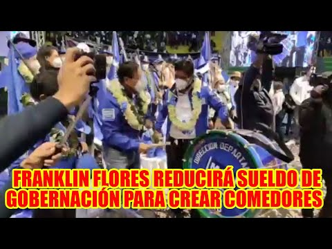 FRANKLIN FLORES CIERRA CAMPAÑA CON UNA CONCENTRACIÓN MULTITUDINARIA EN LA PAZ...