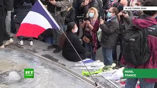A Paris, des milliers de personnes se rassemblent en hommage à Samuel Paty