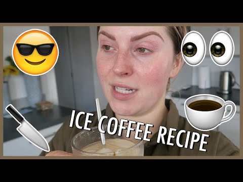 HOW I MAKE ICED COFFEE ? Vlog 596