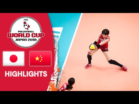 JAPAN vs. CHINA - Highlights   Women's Volleyball World Cup 2019