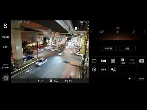Режим приоритета затвора в приложении Photo Pro на Xperia 1 II.