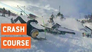 Insane Ski Race Pile Up | Crash Course