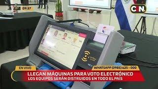 Llegan las máquinas para implementar el voto electrónico