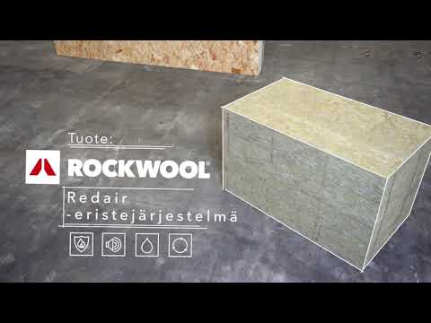ROCKWOOL Redair-järjestelmien asennusvideo