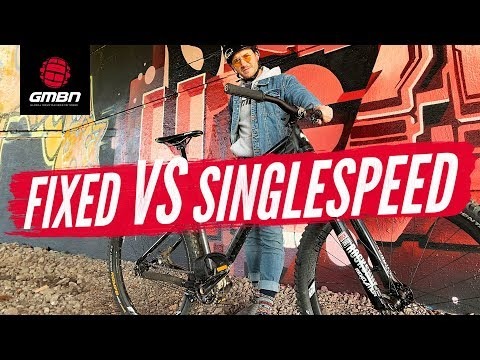Fixed Vs Single Speed | How Hard Can You Ride A Fixed Gear Mountain Bike""