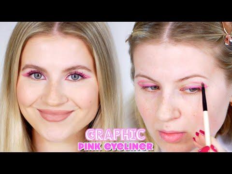 Graphic Pink Eyeliner Makeup
