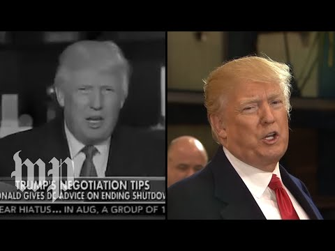 Then and now: Trump and lawmakers on shutdowns