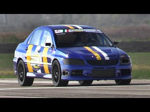 Tuned Mitsubishi Lancer EVOs doing 1/4 Mile Accelerations  Great Sounds