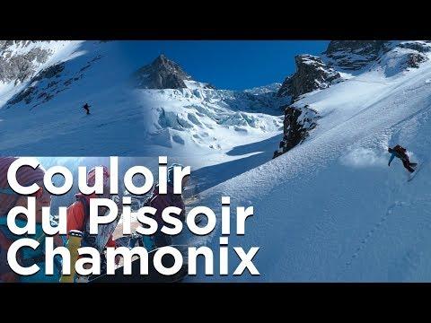 Le Couloir du Pissoir via les Grandes Autannes Chamonix Mont-Blanc Trient splitboard randonnée