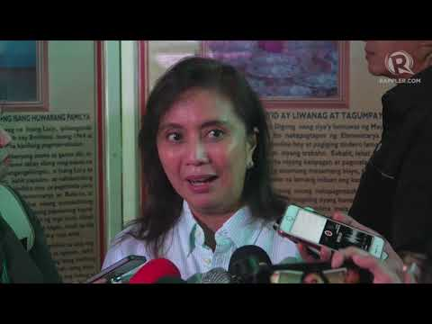 Robredo 'very happy' over higher trust rating in SWS survey