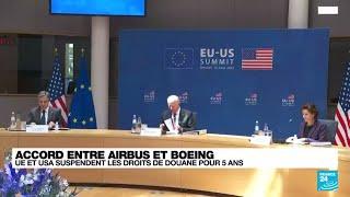 Accord Airbus et Boeing : trêve de cinq ans entre l'UE et les Etats-Unis