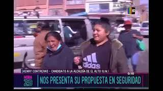 Henry Contreras nos presenta sus propuestas para El Alto