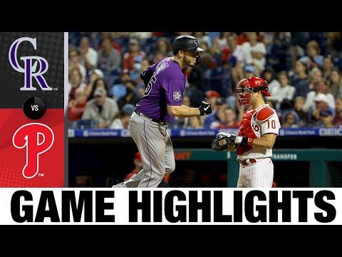 Rockies vs. Phillies Game Highlights (9/10/21)   MLB Highlights