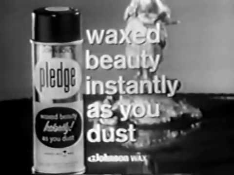 VINTAGE 1965 PLEDGE FURNITURE WAX COMMERCIAL
