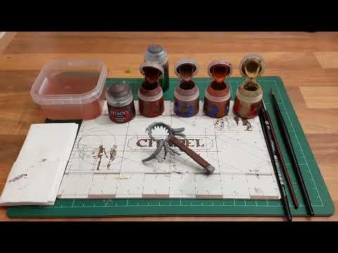 Tutorial:Miniaturen bemalen für Anfänger german HD★Holz Strukturen realistisch malen