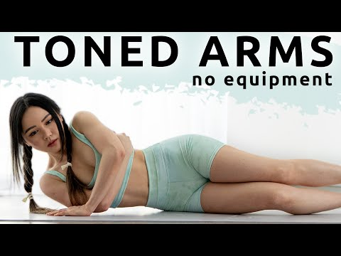 10 min toned arms  upper body workout  no equipment