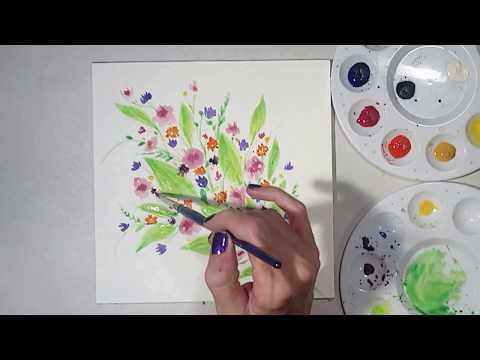 Floral Bouquet Watercolour Painting Demo