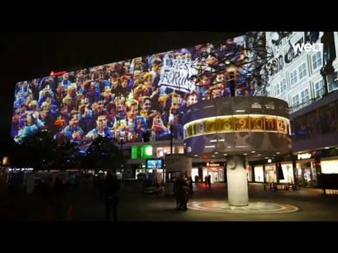 LIGHTSHOW BEI NACHT: Berlin erinnert an den Fall der Mauer vor 30 Jahren