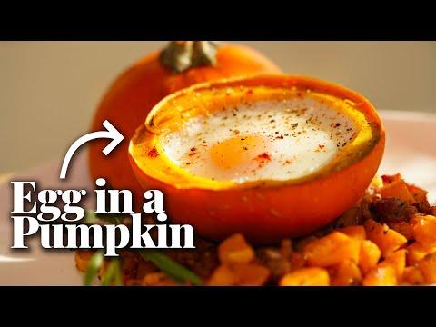 How to Bake an Egg in a Mini Pumpkin