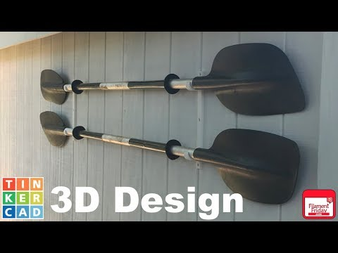 3D Printed Kayak Paddle Storage Brackets
