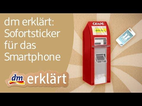 Sofortsticker für's Smartphone - dm erklärt