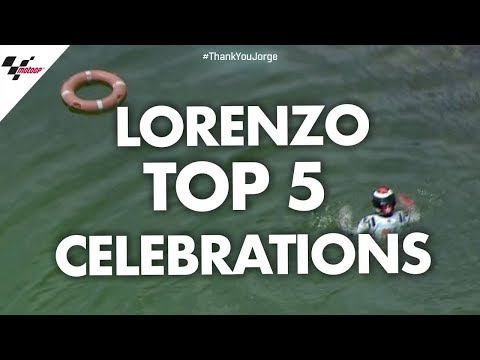 Jorge Lorenzo's top 5 celebrations! #ThankYouJorge