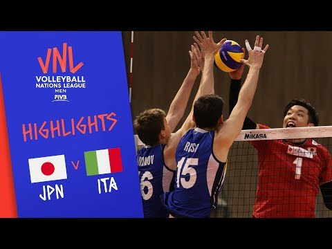 JAPAN vs. ITALY - Highlights Men | Week 3 | Volleyball Nations League 2019