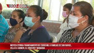 MEFCCA otorga financiamiento de C$ 650 mil a familias de Managua - Nicaragua