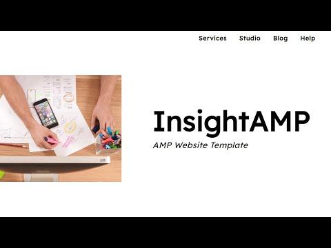 InsightAMP Web Page Template - Mobirise