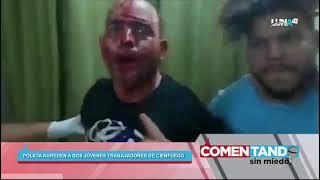 Tremendo enfrentamiento entre policías y jóvenes en Cienfuegos
