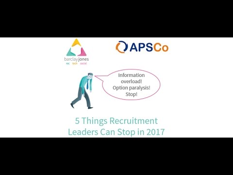 5 Things Recruitment Leaders Need to Stop Doing in 2017