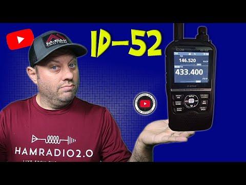 Icom ID-52 First Look! - New Icom Handheld Ham Radio   DSTAR
