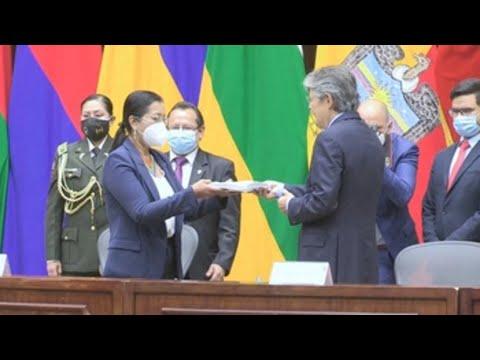 Guillermo Lasso pide a la Asamblea de Ecuador luchar juntos contra crisis económica