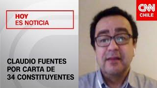 """Claudio Fuentes y carta de 34 constituyentes: """"No me quedó claro hacia dónde van las peticiones"""