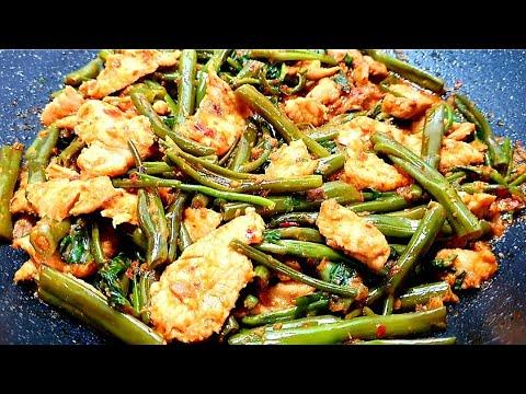 ผัดพริกหมูแกงผักบุ้งนา-กับข้าว