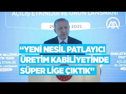 Cumhurbaşkanı Erdoğan: Yeni nesil patlayıcı üretim kabiliyetinde süper lige çıktık