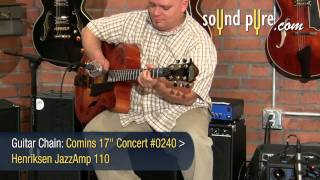 "Bill Comins 17"" Concert Archtop #0240 Guitar Demo"