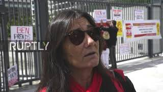France: Air France employees protest as management meets with unions to discuss job cuts