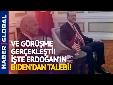 İlk Görüşmede Açıkladı! İşte Erdoğan'ın Biden'dan ilk Talebi!