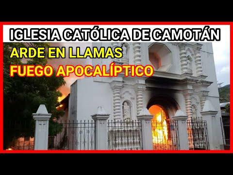 URGENTE GUATEMALA, RAYO PROVOCA INCENDIO EN IGLESIA CATÓLICA DE CAMOTÁN