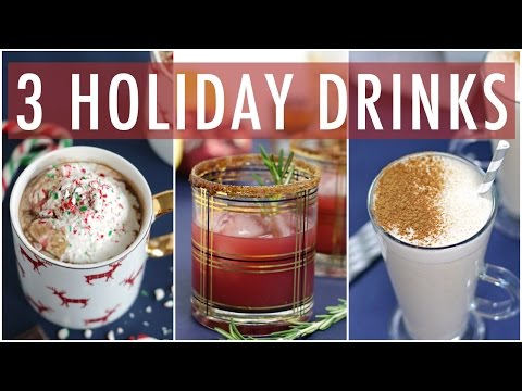 3 DIY HEALTHY HOLIDAY DRINKS | EASY DRNK RECIPES