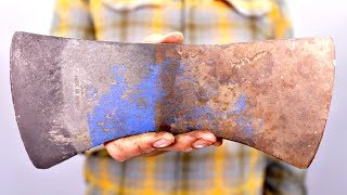 Polishing A Rusty AXE