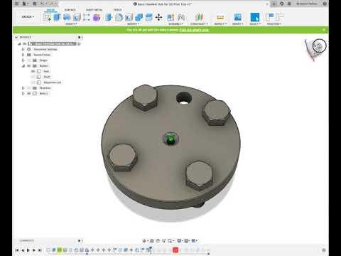 3D Modeling Tractor Flywheel Hub in Autodesk Fusion 360